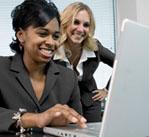 Women in front of computer