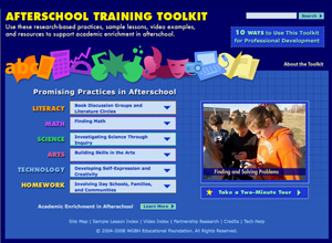 Screenshot of the Training Toolkit web site.
