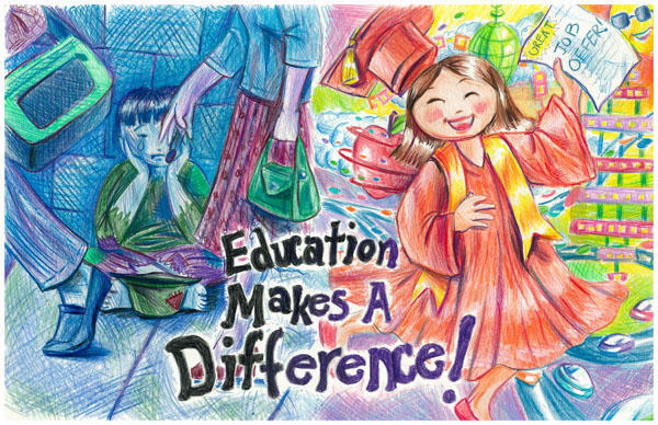 education makes a difference Who i am makes a difference, what i do makes a difference, what i say makes a difference, and the same is true for you  see more of our character education,.