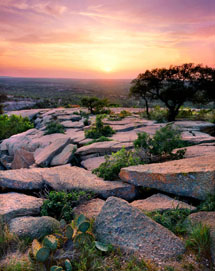 Sunset from Enchanted Rock