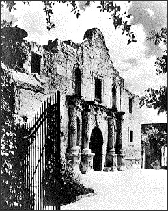 Photo of the Alamo in San Antonio.