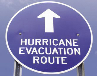Sign: Evacuation Route