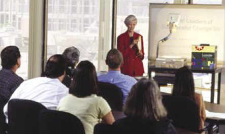 Photo of Shirley Hord presenting to a room of educators.
