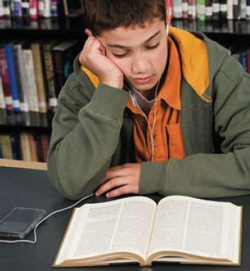 photo of a boy reading