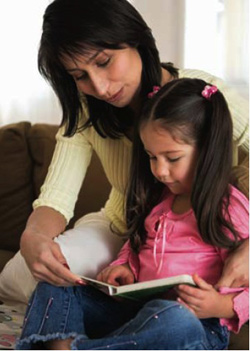 Parents+and+children+reading+together