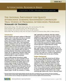 Afterschool Research Brief