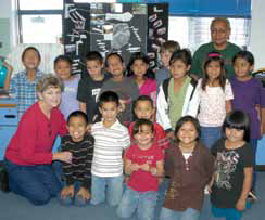 Students at Magdalena Elementary School, one of the schools participating in the New Mexico Rural Partnership for Technology