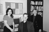 Picture of SEDL staff members Iliana Alanis, Sebastian Wren, and Susan Paynter