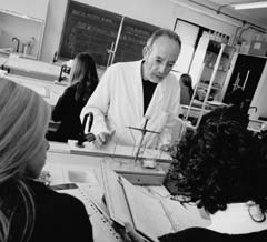 Photo of teacher in science classroom