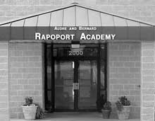 Rapoport Academy opened the doors of its brand new facility in 2000, two years after the charter school got its start in the basement of a nearby church.